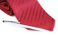 Corbata roja de la tela Imagen de archivo libre de regalías