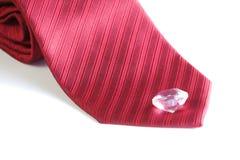 Corbata roja de la tela Imágenes de archivo libres de regalías