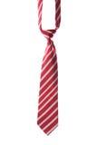 Corbata roja en blanco Imagenes de archivo