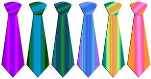 Corbatas coloreadas ilustración del vector