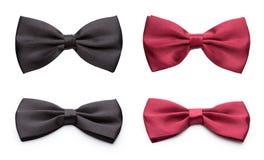 Corbatas de lazo rojas y negras Foto de archivo libre de regalías
