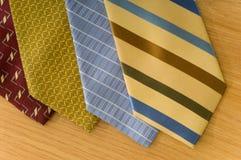 Corbatas de seda Imagen de archivo