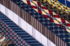 Corbatas del ` s del hombre coloreado para el día del ` s del padre Imagen de archivo