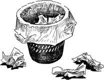 Corbeille à papiers illustration stock