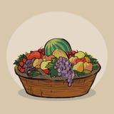 Corbeille de fruits Images stock