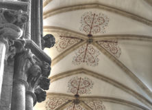 Corbel Head Decorated Bell Capital Wells Cathedral Stock Photos