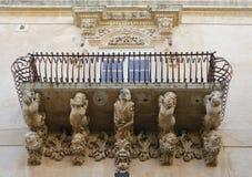Corbel im Balkon Lizenzfreies Stockfoto
