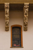 Corbels and window of Salina Palace in Salamanca Stock Image