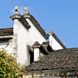 The corbie gable of Chinese folk houses Royalty Free Stock Photos