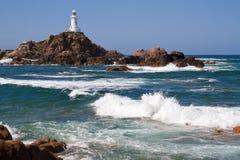 corbiere泽西le lighthouse英国 免版税图库摄影
