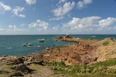 Corbiere lighthouse on Jersey Royalty Free Stock Photography