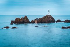 Corbiere Lighthouse sitting on an island royalty free stock photos