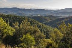 Corbieres berg, Frankrike royaltyfria foton