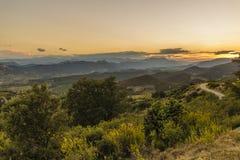 Corbieres-Berge, Frankreich lizenzfreie stockfotos