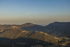 Corbieres-Berge, Frankreich lizenzfreies stockbild