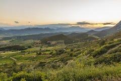Corbieres-Berge, Frankreich stockfotografie