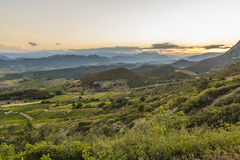 Corbieres Mountains, France stock photography