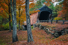 Corbin Covered Bridge Newport New Hampshire Royalty Free Stock Image