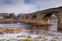 Corbridge i frost Arkivbild