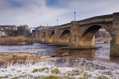 Corbridge nel gelo fotografia stock