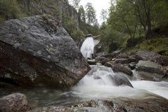 Corbu Waterfall at Lake Teletskoye in the Altai Mountains Royalty Free Stock Photography