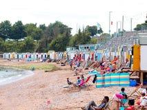 Corbyn的顶头海滩, Torquay,德文郡 库存照片