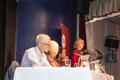 在一次集会的杰里米现在Corbyn劳工领袖在马盖特 库存图片