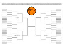 Corchete en blanco del torneo del baloncesto de la universidad Imagen de archivo libre de regalías