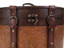 Corchete viejo del equipaje Foto de archivo libre de regalías