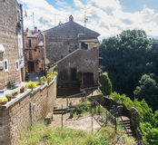 Corchiano (Italien) Stockbild