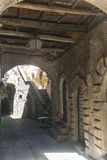 Corchiano (Italy). Corchiano (Viterbo, Lazio, Italy): medieval town, a typical street Royalty Free Stock Photo