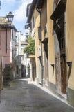Corchiano (Italy). Corchiano (Viterbo, Lazio, Italy): medieval town, a typical street Stock Photos