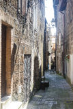 Corchiano (Italy). Corchiano (Viterbo, Lazio, Italy): medieval town, a typical street Stock Images