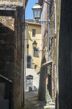 Corchiano (Italy). Corchiano (Viterbo, Lazio, Italy): medieval town, a typical street Royalty Free Stock Image