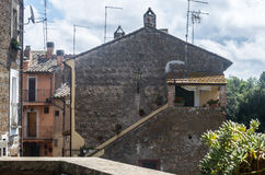 Corchiano (Italy). Corchiano (Viterbo, Lazio, Italy): the medieval village at summer Stock Image
