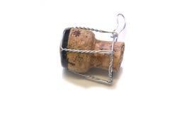 Corcho de Champán con el alambre foto de archivo