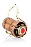 Corcho de la botella del champán con el alambre Foto de archivo