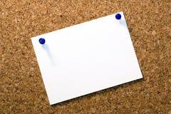 Corcho-tarjeta Imagen de archivo libre de regalías