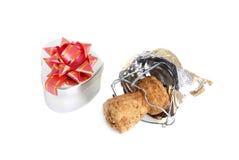 Corcho y regalo de Champán Fotografía de archivo