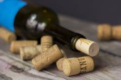 Corcho y vino Fotografía de archivo