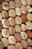 Corchos clasificados del vino imágenes de archivo libres de regalías