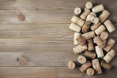 Corchos clasificados del vino imagen de archivo