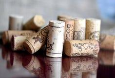Corchos de la botella de vino Imagen de archivo libre de regalías
