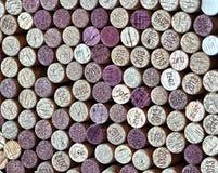 Corchos de la botella de vino Imágenes de archivo libres de regalías