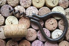 Corchos del vino Fotos de archivo