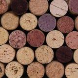 Corchos del vino de la textura del detalle fotos de archivo