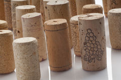 Corchos usados del vino Fotos de archivo