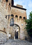 Corciano. Door entrance to the ancient village Royalty Free Stock Photo