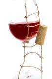 corck czerwone wino Obrazy Royalty Free