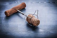 Corck di champagne con corckscrew Immagine Stock Libera da Diritti